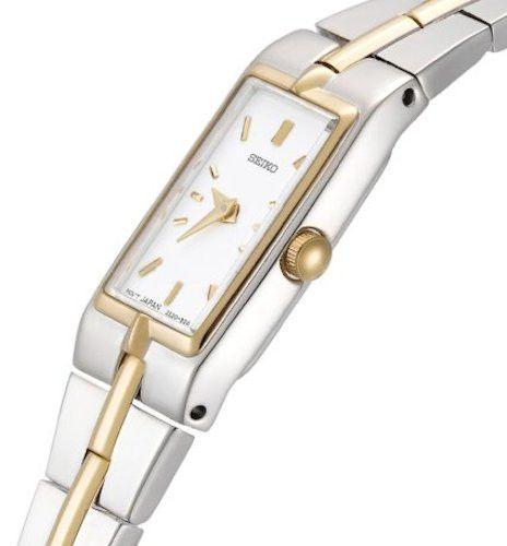 Đồng hồ Seiko quartz nữ SZZC40 thiết kế mặt chữ nhật độc đáo