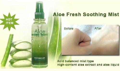 Xịt khoáng lô hội The Face shop Aloe Fresh soothing mist