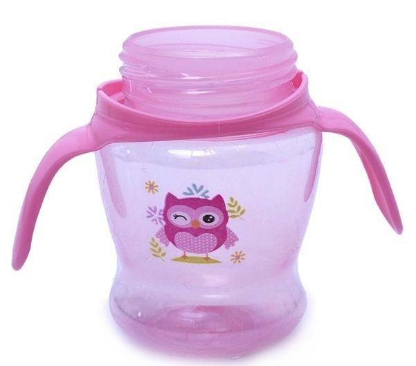 Cốc tập uống cho bé Ami thiết kế 2 tay cầm tiện dụng, họa tiết ngộ nghĩnh