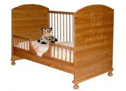 Giường cũi Teddly 9 trong 1 đa chức năng (Màu gỗ)