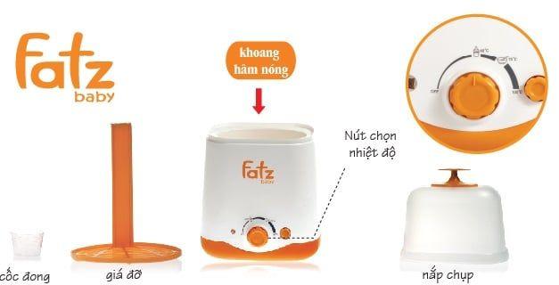 Máy hâm sữa fatzbaby 2 bình fb3011sl chính hãng