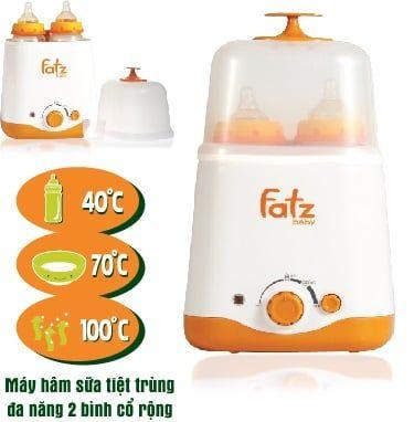 Máy hâm sữa tiệt trùng đa năng 2 bình fatzbaby fb3011sl giá tốt