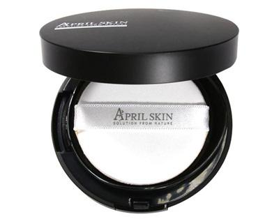 Phấn nước April Skin Magic Skin Snow Cushion SPF50 chứa thành phần chống nắng bảo vệ da