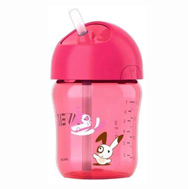 Bình tập uống Avent có ống hút giúp điều khiển dòng chảy ổn định để bé uống dễ dàng hơn