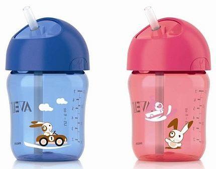 Bình tập uống Avent có ống hút tiện dụng cho bé từ 12 tháng tuổi trở lên