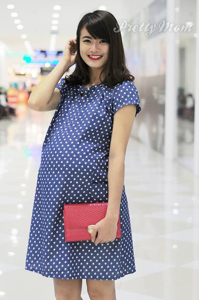 Đầm bầu Pretty Mom MK97 sử dụng chất liệu mềm, mát tạo cảm giác thoải mái khi mặc