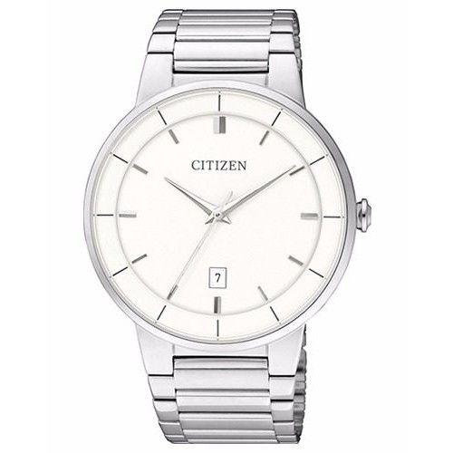 Đồng hồ đeo tay Citizen BI5010-59A có mặt số cổ điển hiện thị kim, giờ, ngày với chất liệu kính cường lực chống va đập