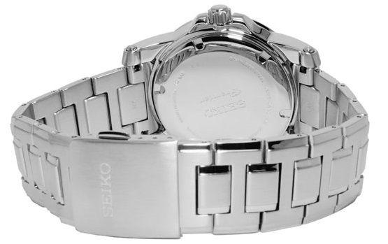 Đồng hồ seiko automatic SNP091 có vòng đeo tay phù hợp hầu hết vòng cổ tay phổ thông của nam. Khóa gập mở an toàn dễ sử dụng.