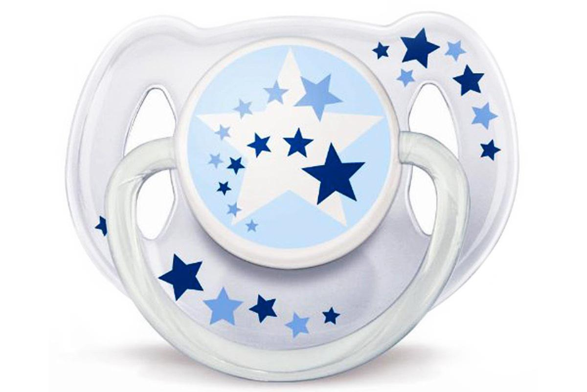 Ty ngậm Avent phát sáng dùng ban đêm cho bé 6-18 tháng tuổi thiết kế độc đáo, tiện lợi