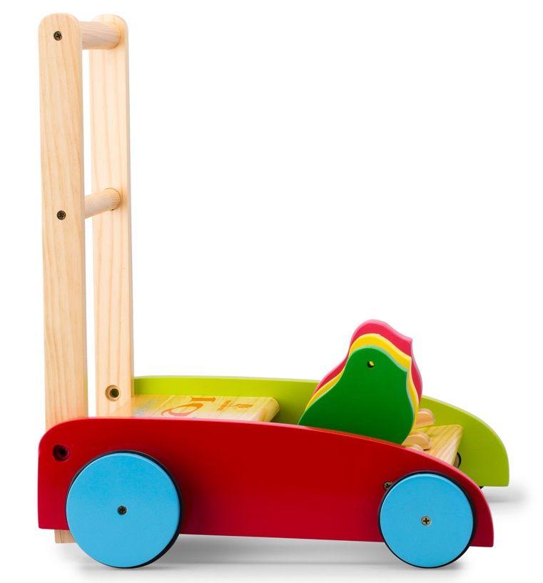 Xe tập đi bằng gỗ IQ Toys hình con vật dễ thương 2