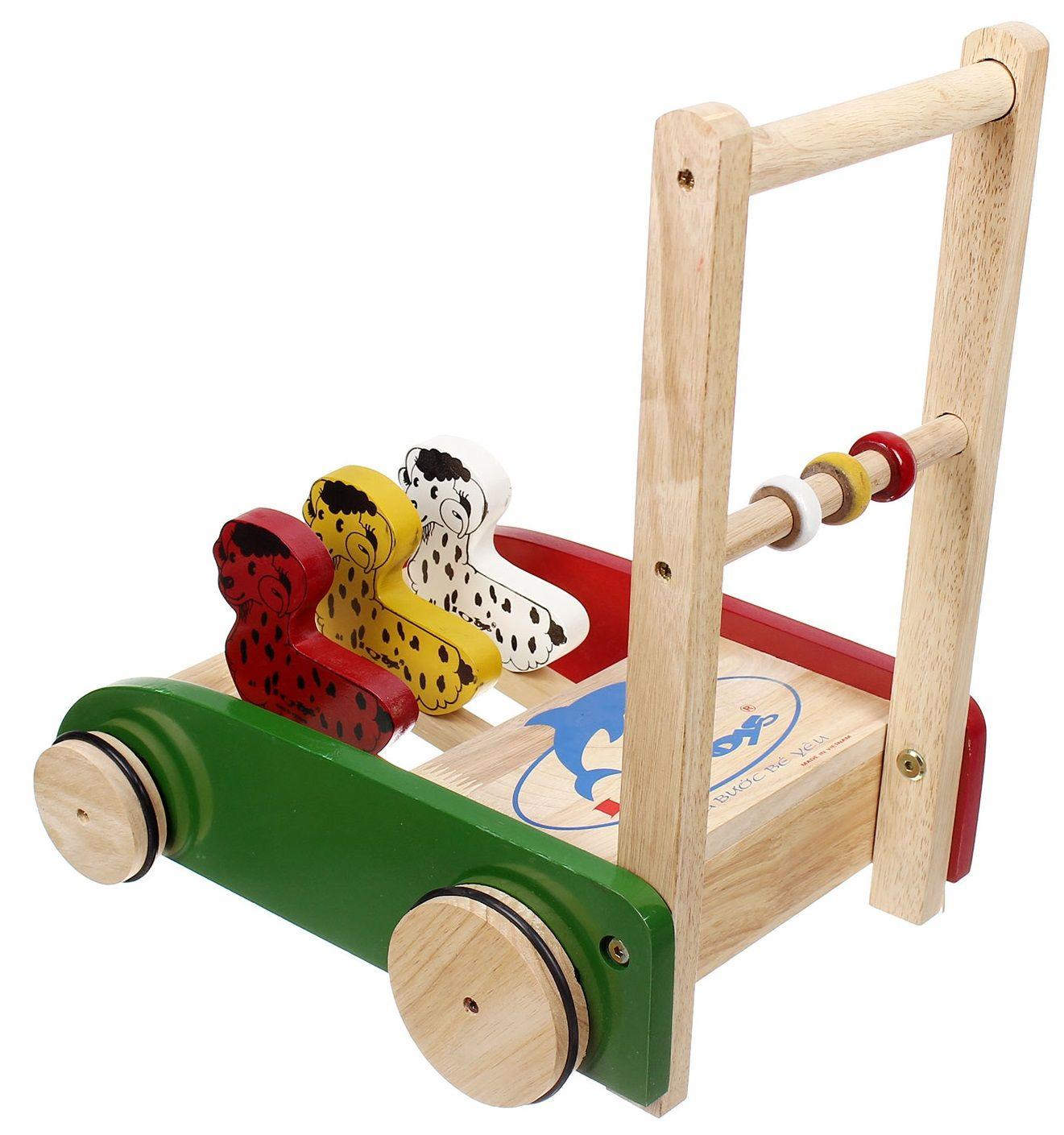 Xe tập đi bằng gỗ IQ Toys hình con vật dễ thương 9