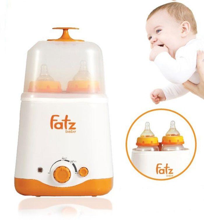 Máy hâm sữa tiệt trùng đa năng 2 bình cổ rộng Fatzbaby FB3011SL tiện dụng hơn cho mẹ