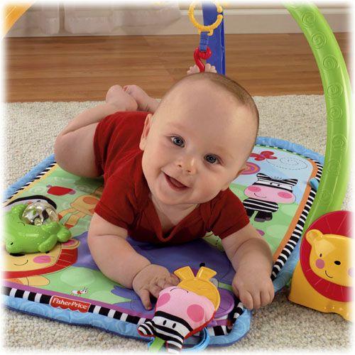 Thảm chơi cho bé được làm bằng cotton mềm, xốp theo tiêu chuẩn an toàn của Mỹ cho bé nằm chơi thoái mái