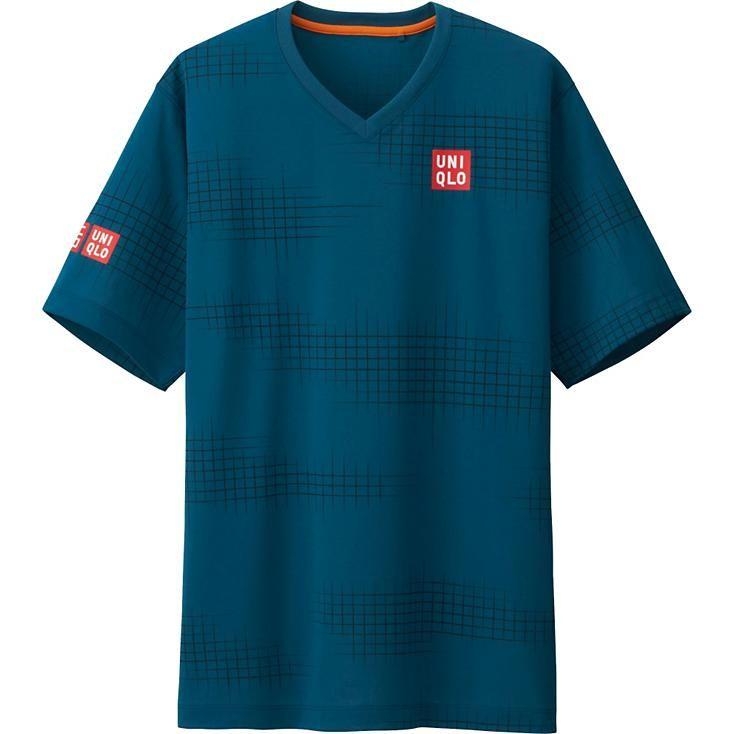 Áo Uniqlo tennis Ex Dry giải tennis mở rộng 2016 xanh