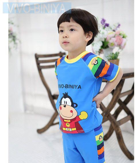 Các màu sắc trên bộ đồ bơi cho bé trai này được kết hợp hài hòa