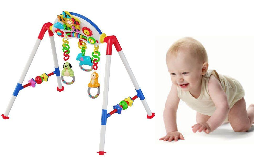 Giá chữ A có nhiều màu sắc tươi sáng, bắt mắt giúp kích thích các giác quan của bé phát triển