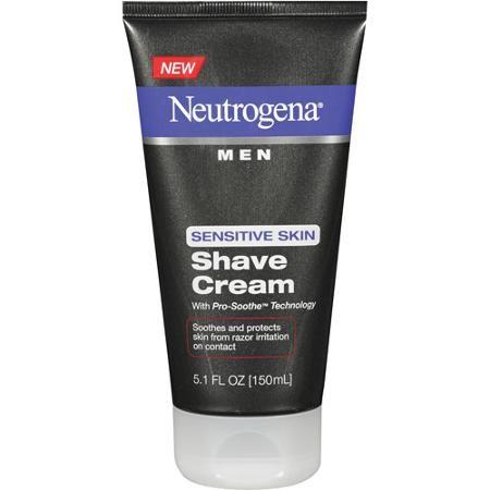 Kem cạo râu Neutrogena Men Sensitive Skin Shave Cream 150ml dành cho da nhạy cảm