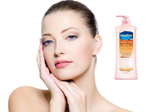 Sữa dưỡng thể Vaseline có chỉ số chống nắng SPF 24, chống nắng hiệu quả.