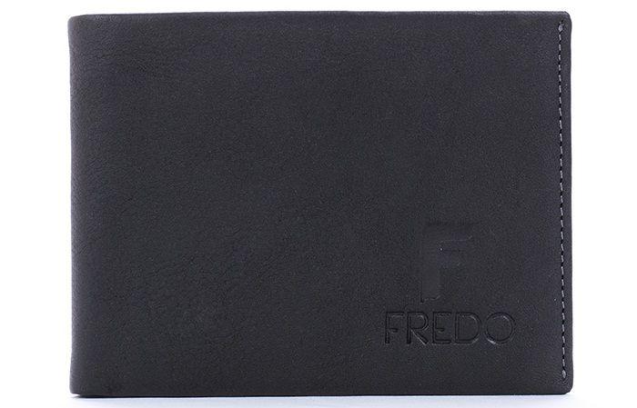 Ví da nam Fredo 01 dáng ngang màu đen sang trọng 4
