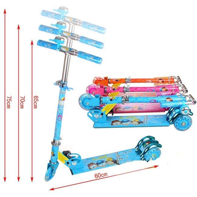 Xe trượt Scooter 2009A có thể điều chỉnh 3 nấc chiều cao dễ dàng