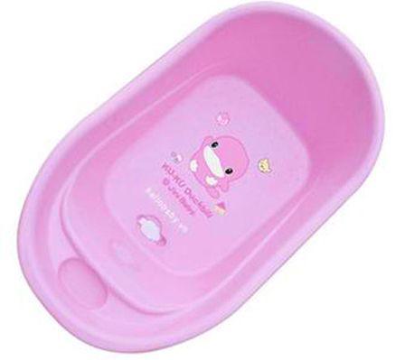 Chậu tắm cho bé Kuku cỡ nhỏ có màu sắc đáng yêu, phù hợp lứa tuổi bé