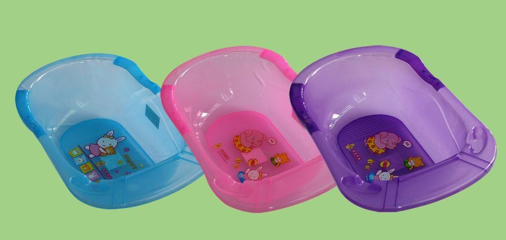 Chậu tắm cho bé nhựa trong Thái Lan cao cấp nhiều màu sắc vô cùng tiện dụng