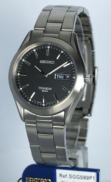Đồng hồ Seiko SGG599P1 Titanium cho nam được làm từ chất liệu Titanium nhẹ, độ bền lớn