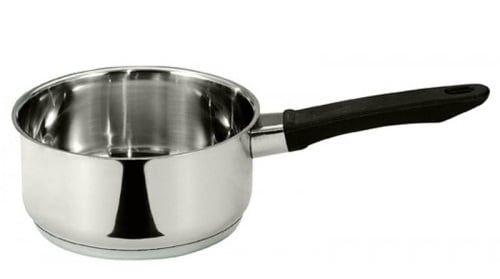 Chiếc nồi nấu bếp từ được thiết kế với 3 lớp đáy dày dặn bắt nhiệt tốt, tản nhiệt đồng đều.