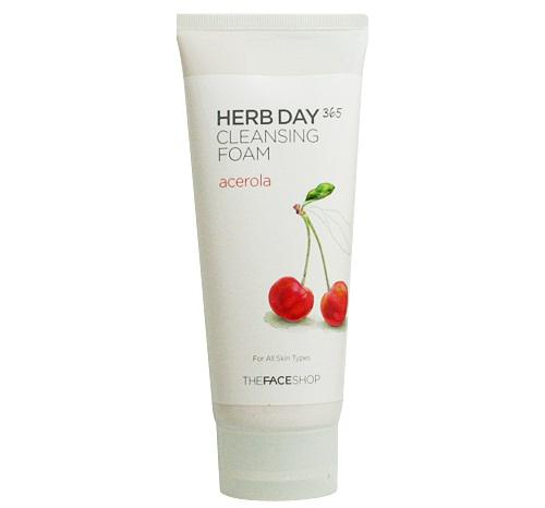 Sữa rửa mặt The Face Shop Herb Day 365 Cleansing Foam 3