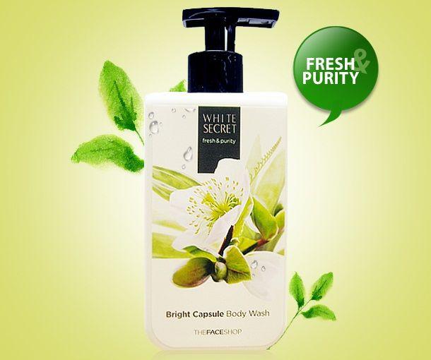 Sữa tắm trắng da The Face Shop White Secret Bright Capsule Body Wash có hương thơm nhẹ nhàng