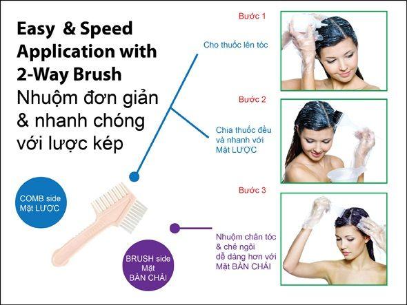 Hướng dẫn sử dụng thuốc nhuộm tóc Bigen Speedy