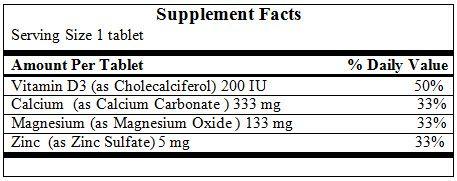 Viên uống Nature Made Calcium Magnesium Zinc With Vitamin D3 5