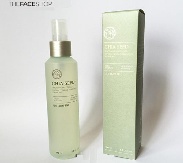 Xịt khoáng The Face Shop Chia Seed Soothing Mist Toner 2