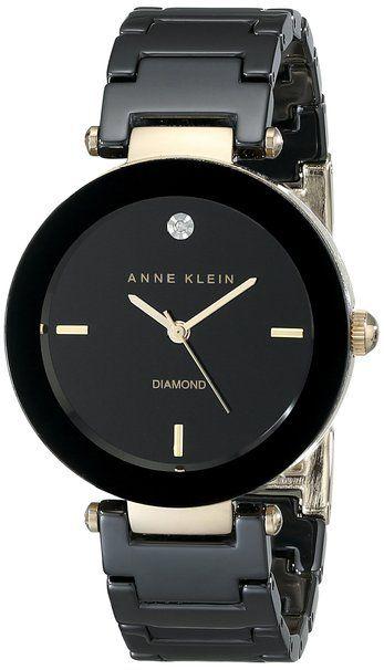 Anne Klein AK/1018BKBK chiếc đồng hồ Ceramic bền, đẹp, sang
