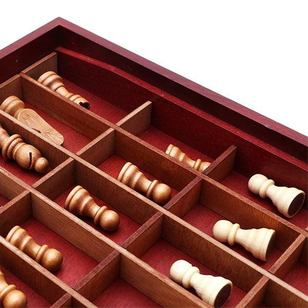 Bàn cờ vua hộp gỗ Super King thiết kế chuẩn quốc tế 3