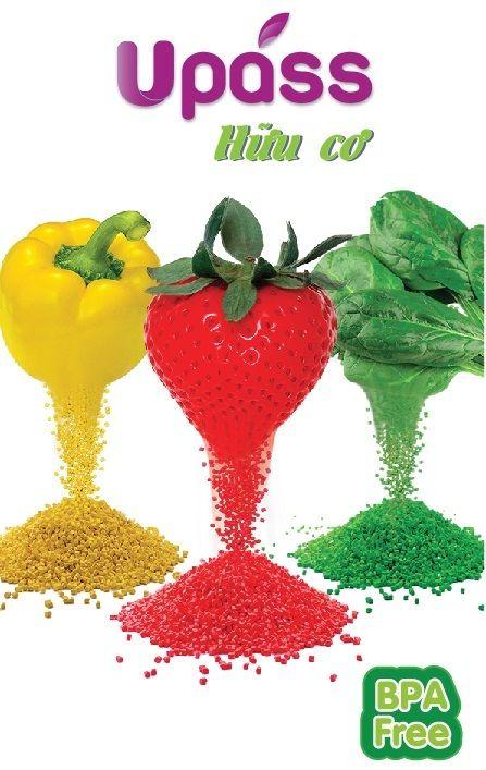Sản phẩm có bột mầu hữu cơ được chế tạo từ các loại rau củ và hoa quả
