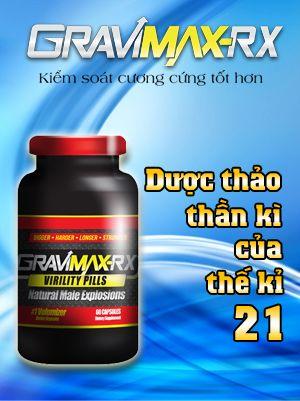 Viên uống hỗ trợ điều trị xuất tinh sớm Gravimax-rx chứa các thành phần thảo mộc an toàn