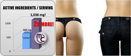 Thuốc nở mông Major Curves có thể làm nở mông đến 31% so với trước khi sử dụng