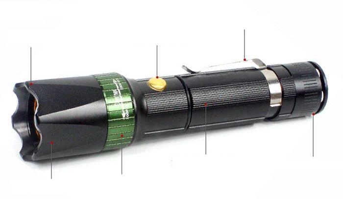 Đèn pin siêu sáng Police Cree Zoom CH-16 3