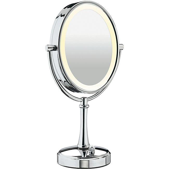 Gương trang điểm để bàn có đèn Led hiện đại 2