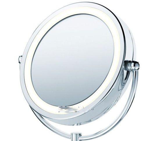 Gương trang điểm để bàn có đèn Led hiện đại 5
