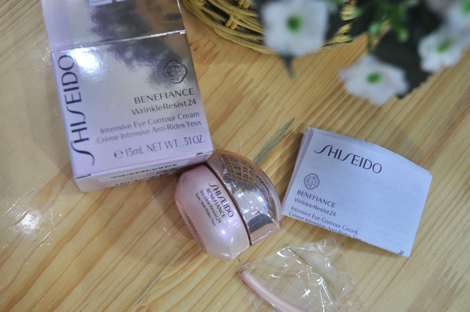 Kem trị nhăn vùng mắt Shiseido Benefiance được sản xuất dựa trên công nghệ The Eye Wrinke Expert từ các chiết xuất thực vật tự nhiên