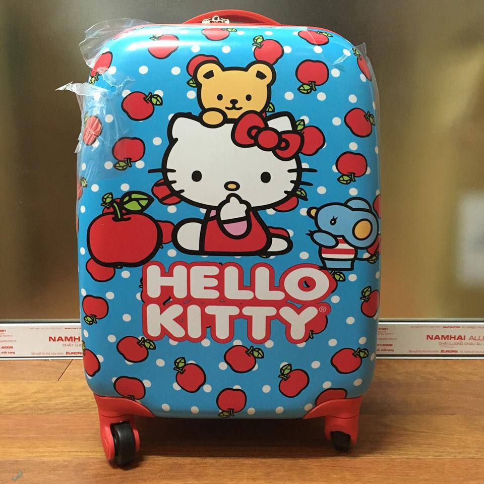 Vali kéo trẻ em Hello Kitty hình chữ nhật 4