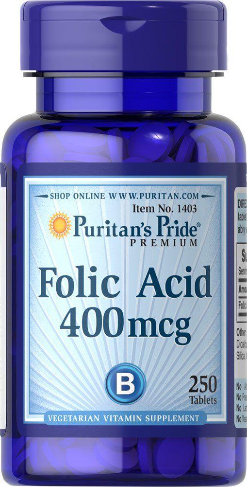 Viên Uống Hỗ Trợ Bổ Sung Folic Acid 400mg Của Puritan's Pride