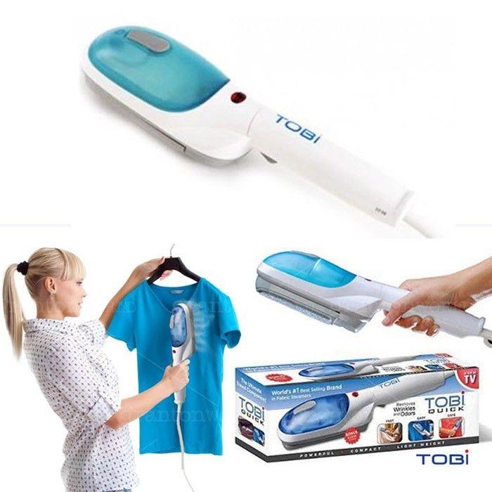 Bàn ủi hơi nước cầm tay Tobi sử dụng sức nóng từ hơi nước và làm phẳng quần áo dễ dàng
