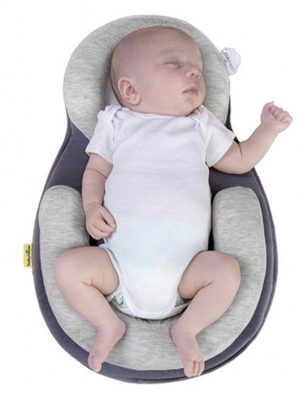 Babymoov có phần viền bảo vệ bao quanh đệm tạo ra một không gian cố định giúp bé nằm tư thế ngửa một cách an toàn & thoải mái