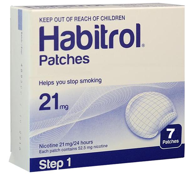 Miếng dán cai thuốc lá Habitrol 21mg step 1