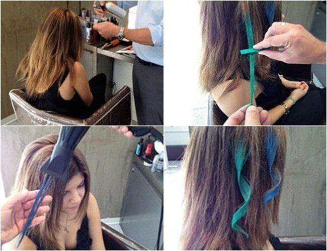 Thuốc nhuộm tóc tạm thời dễ dàng sử dụng và thay đổi màu tóc nhuộm tạm thời với thao tác rất đơn giản