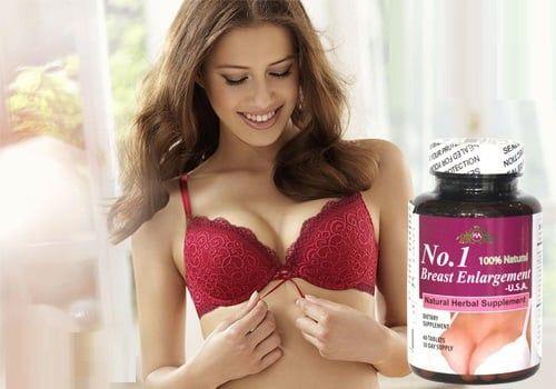 Thành phần viên uống nở ngực No.1 Breast enlargement chiết xuất từ các thảo dược thiên nhiên