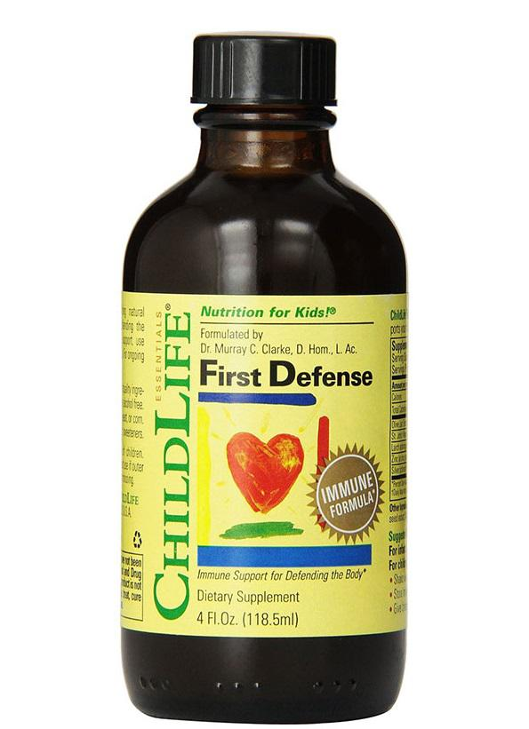 Sản phẩm Vitamin Childlife First Denfense sẽ giúp tăng cường hệ miễn dịch cho trẻ từ 6 tháng đến 12 tuổi